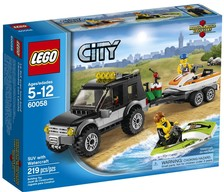 LEGO  60058   City  SUV  con moto d'acqua